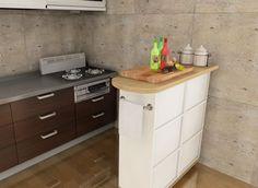 カラーボックスキッチンカウンターのイメージ