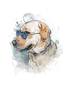 Labrador Retriever, Dog Portrait, Dog Art, Custom Pet Portrait, Watercolor Dog Painting, Pet Art, Pet Portrait, Pet Memorial, Dog Gift, Cute Dog, Pup, Puppy Dog Lover Gifts, Dog Gifts, Dog Lovers, Dog Portraits, Portrait Art, Watercolor Portraits, Watercolor Art, Beyond Paint, Printable Animals