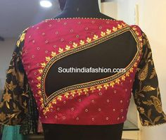 Maggam Embroidered Blouse Designs photo