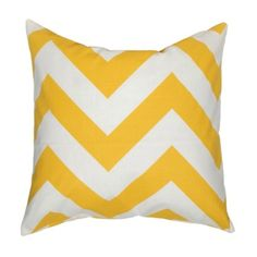 chevron pillow in yellow                                  wonder if my best girl would like this !?