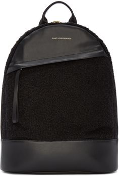 6b8b5666fc6ce Want Les Essentiels - Black Bouclé Piper Backpack Tumblr Backpack