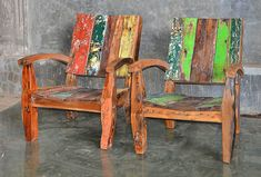 Florida keys furniture made from reclaimed boat wood
