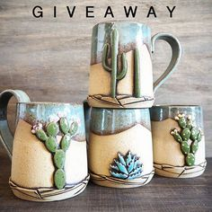 Giveaway has ended, thank you!  Catching up with a favorite human over coffee/drinks is something I love to do but don't do often enough. This giveaway is all about connecting over beverages with a special somebody. Enter to win ANY TWO cups from any series I currently offer: one you choose for your beverage buddy and one they choose for you. Or you can pick one for yourself. Cups will be made to order to suit your choice of beverage (coffee mug/teacup/beer stein/rocks tumbler, etc). ☕ TO…