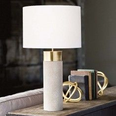 Regina Andrew Harlow Lamp - Ivory Grey