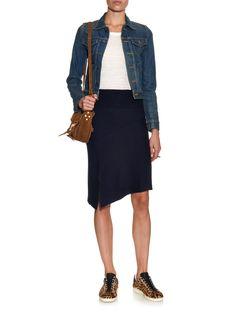 Lyle ribbed-knit asymmetric-hem skirt | Isabel Marant Étoile | MATCHESFASHION.COM UK