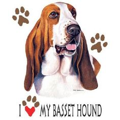 I Love My Basset Hound Dog  T - SHIRT  Item no. 808h - pinned by pin4etsy.com