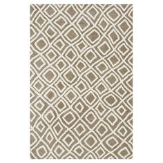 Rug with an abstract diamond motif.Product: RugConstruction Material: 100% PolyesterColor: Beige ...