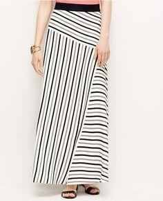 Primary Image of Block Stripe Maxi Skirt