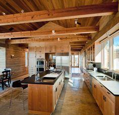 Estrich Der Fußboden Im Industrial Style Für Moderne Küchen Im Landhausstil
