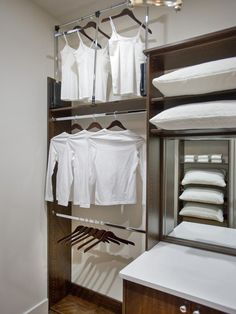 No space is wasted in this closet. The pull-down valet poles store seasonal clothing out of reach--> http://hg.tv/vb1b