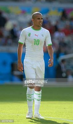 Algeria's Sofiane Feghouli is seen during the 2014 FIFA World Cup Group H soccer match between Belgium and Algeria at the Mineirao Stadium in Belo...