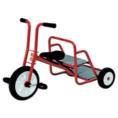 Kid's Red Tricycle w Rear-Facing Passenger Seat - Ages 3 to kinda wish they had the adult size. Toys For Boys, Kids Toys, Red Tricycle, Soft Play, Ride On Toys, Rubber Tires, Christmas Toys, My Children, 6 Years