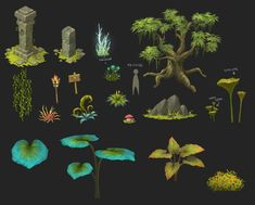 Blade Concept Art - Theme01. Old Forest on Behance