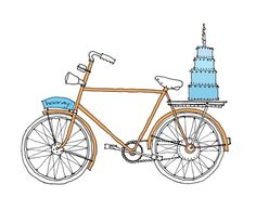 #card love the bike illustration...cute w/ the cake