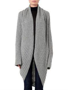 THE ROW Ilia ribbed-knit cocoon cardigan
