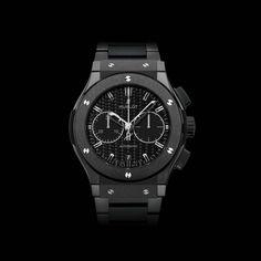 Hublot - Classic Fusion Chronograph Black Magic, ref.521.CM.1771.RX - Self-winding, cal.HUB1143, 4Hz, 42hr p.r., chronograph, date - 45mm, black ceramic case, black ceramic bezel, mat carbon fiber dial ~7.5k