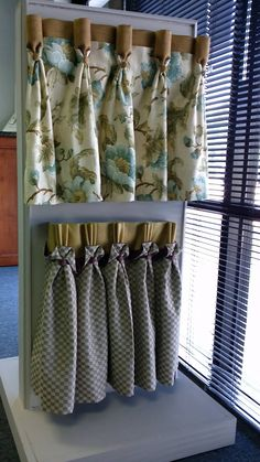 Lovely addition to panels Dining Room Curtains, Curtains And Draperies, Home Curtains, Drapery Panels, Kitchen Curtains, Valances, Window Curtains, Curtain Headings, Fabric Display