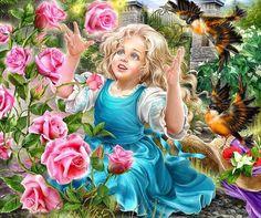 В розовом саду. Автор: Инна Кузубова.