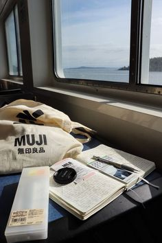 "studioushiba: ""journaling on a trip to Vancouver Island ☁️ "" - Reisen Study Desk, Study Space, Study Organization, Study Hard, Study Notes, Study Motivation, Student Life, Dream Life, College"