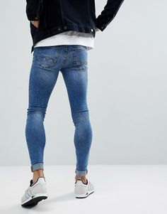 Skinny Jeans Style, Super Skinny Jeans, Hipster Fashion, Mens Fashion, Superenge Jeans, Man Style, Casual Pants, Asos, Tights