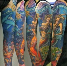 Wicked cool mermaid sleeves