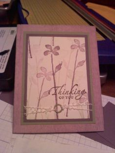 Purple Thinking of You by mporschet - Cards and Paper Crafts at Splitcoaststampers