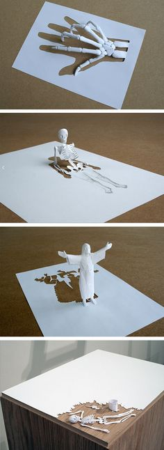 Paper Sculpture by Peter Callesen #technology