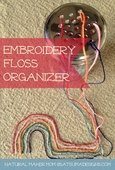 Dollar store embroidery floss organizer. Calm the craft chaos with this easy trick. #embroiderycraft