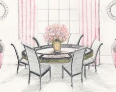 My #illustrations on  #monainteriors #homefurnishings