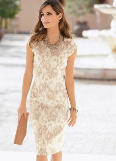 Together Cap Sleeve Jacquard Dress