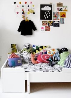 Eames Hang it all. Fun pillows.