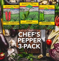 If you are a chef or a gourmet gardener and love to cook, make sure to check out our latest discount of the best pepper seeds for your garden! These three special peppers have long been prized by restaurants and is a favorite among chefs. Yellow Mustard Seeds, Chicken Balls, Avocado Cream, Pepper Seeds, Bean Salad, Stuffed Sweet Peppers, White Beans, Gourmet Recipes, Vegan Recipes