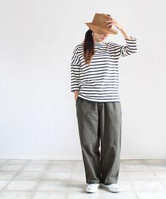 maillot (マイヨ) heavy nel easy autumn pants (ヘビーネル・イージーパンツ)