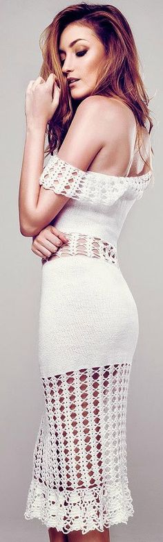 crochet dress by Terezza                                                                                                                                                                                 More
