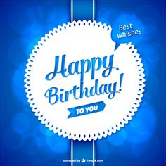 Vector lace style birthday card Free Vector
