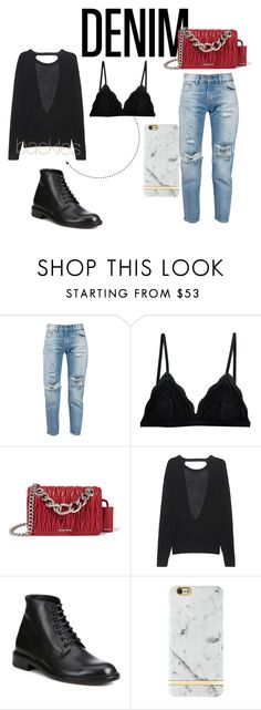 """""""backless"""" by marija-colic7 ❤ liked on Polyvore featuring Levi's, Cosabella, Miu Miu, Zadig & Voltaire, Yves Saint Laurent, women's clothing, women, female, woman and misses"""