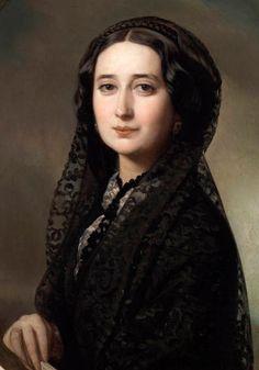 """""""Retrato de Carolina Coronado"""". (by Federico de Madrazo y Kuntz)."""