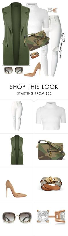 """Bad Gal"" by fashionkill21 ❤ liked on Polyvore featuring (+) PEOPLE, Glamorous, WearAll, Yves Saint Laurent, Christian Louboutin, Miu Miu and Allurez"