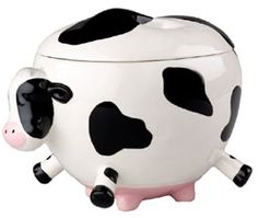 Snack Jar, Cookie Jar, Container, Cow Kitchen Items at Simply Bovine