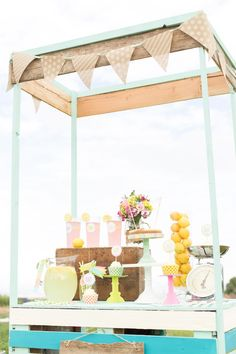 Lemonade Stand Party via Kara's Party Ideas | The Place for ALL Things Party! KarasPartyIdeas.com