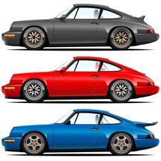Porsche Sports Car, Porsche Cars, Automobile, Porsche 911 964, Vintage Porsche, Pretty Cars, Sport Cars, Race Cars, Automotive Art
