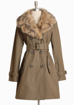 want a trench with a fur collar.