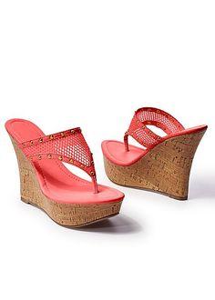 94d22544c9530 Women s Mesh wedge sandal Shoes Heels