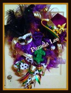 #Mardi Gras #wreath