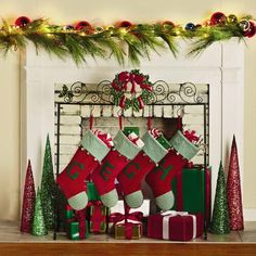 wreath christmas stocking holder christmas tree shops andthat - Stocking Hangers For Mantle