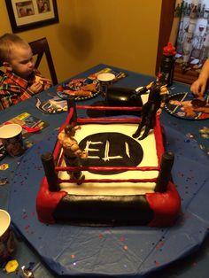 Wwe wrestling cake, marshmallow fondant