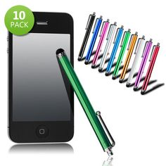 Daily Sale: 10 Pack Touchscreen Metal Stylus for iPad iPhone Random Colors $8