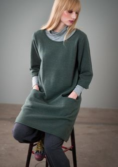 Felted wool tunic – Sweaters & cardigans – GUDRUN SJÖDÉN – Webshop, mail order and boutiques | Colorful clothes and home textiles in natural...