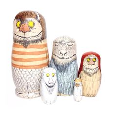 matryoshka nesting dolls - the storybook collection - where the wild things are-inspired nesting doll set