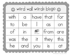 Watch TV or listen to conversations around the house/park/pool etc. and play Word Wall Bingo- Here are several K-1 level bingo boards and a blank board for free download.